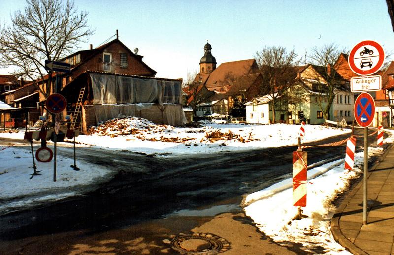 Das Areal am Petersilienwasser im Februar 1996 vor den archäologischen Grabungen. Archivfoto: Frank Bertram